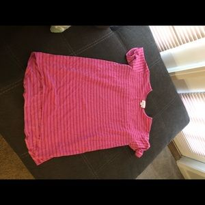 LulaRoe - Pink Striped Shirt- 12